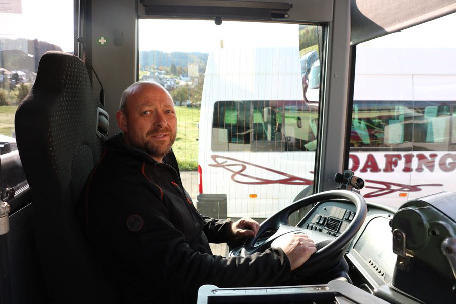Fahrer der Dafinger GmbH Grainet, Foto für Website Linienverkehr