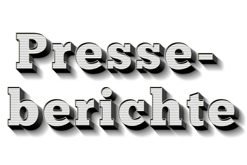 Headerbild für den Presseblog als 3D Typo