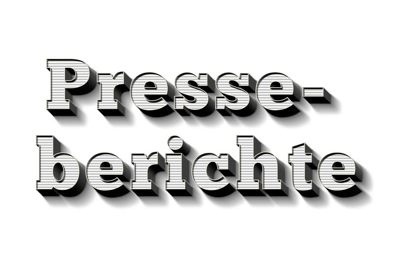 Beitragsbild für den Presseblog als 3D Typo